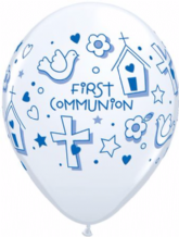 1st Communion Symbols (Boy) - 11 Inch Balloons 25pcs